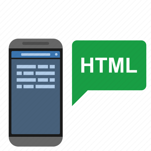 code, html, mobile, page, technology, web icon