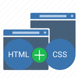 code, css, html, page, style, web, window icon