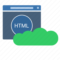 application, cloud, html, technology, web, window icon