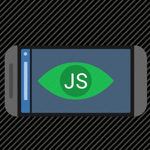 application, code, javascript, js, mobile icon
