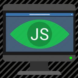 dynamic, javascript, js, monitor, page, pc, web icon