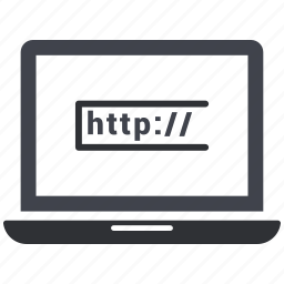 domain, http, laptop, link, url, webpage, website icon