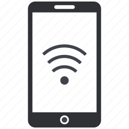 internet, iphone, mobile, phone, signals, smartphone, wifi icon