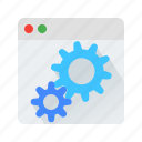 cms, setting, web icon