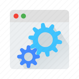 cms, gear, setting, web icon