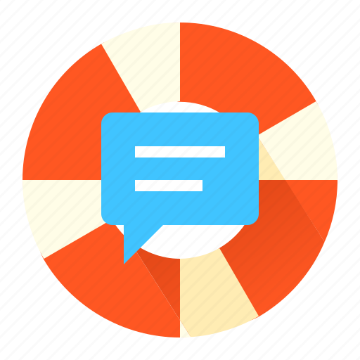 chat, help, life-buoy ring, support icon