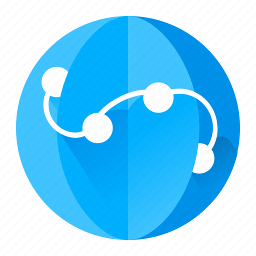 browser, internet, network, sphere icon