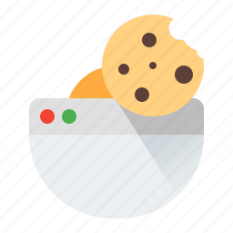 cookie, internet, page, web icon