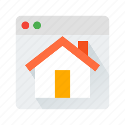 home, homepage, house, web icon