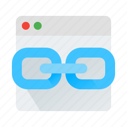 browser, chain, link, web icon