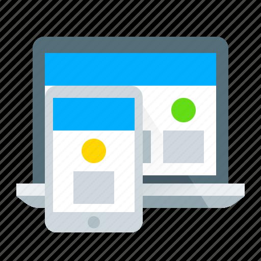 design, device, mobile, responsive icon
