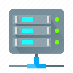 data, hosting, network, server icon