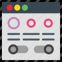 design, layout, online icon