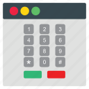 creative, dial, layout, pad, web icon