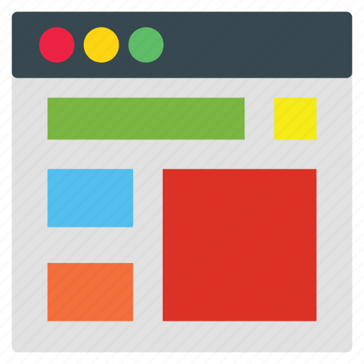 business, layout, web icon