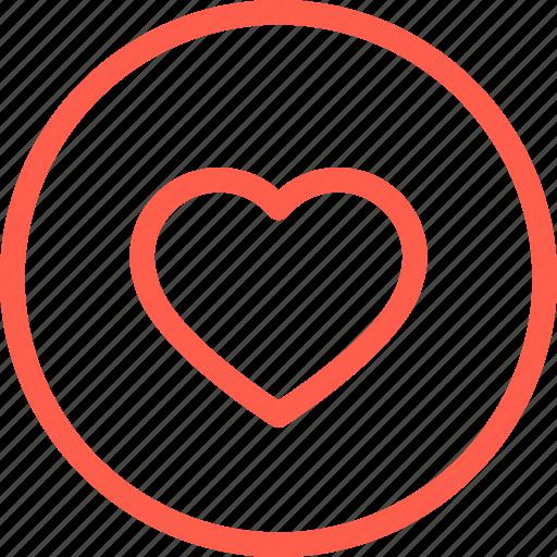 favorite, heart, like, line, love, thin, web icon