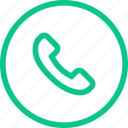 call, contacts, line, phone, support, thin, web icon