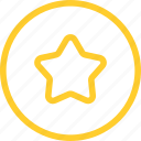 best, favorite, line, rate, star, thin, web icon