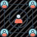 focus, focus groups, groups, meeting, team icon