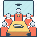 conference, interview, meeting, meeting room, office, room icon