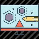 design, designer, designing, skill, visual, visual designing icon