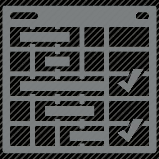 management, planning, tasks, usability icon