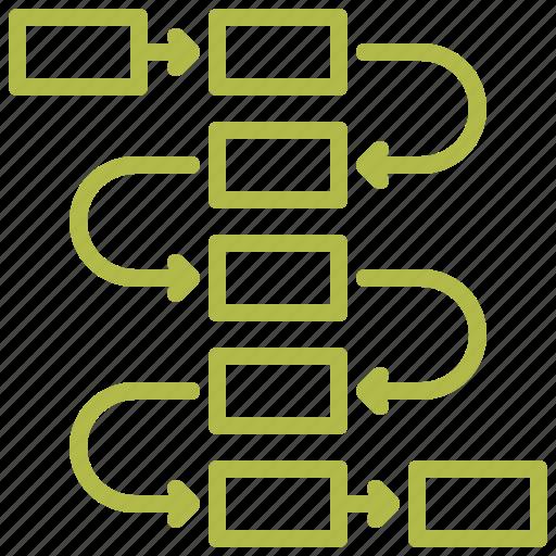 flow diagram, plan, scheme, workflow icon