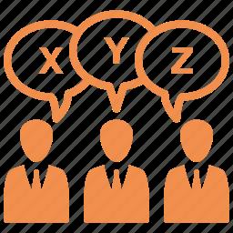meeting, survey, teamwork, usability icon