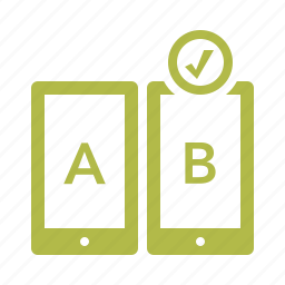 ab testing, compare, feedback, tablet icon