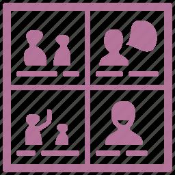 illustration, storyboard, usability icon
