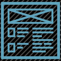 prototype, web content, wireframe icon