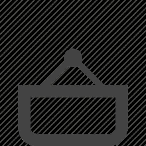 ecommerce, empty basket, shopping icon