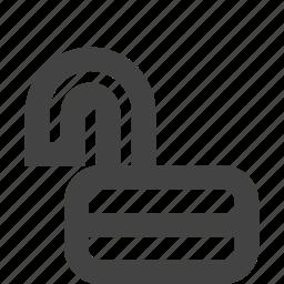 lock, risk, security, unlock icon