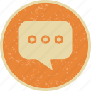 chat, comment, conversation, typing icon