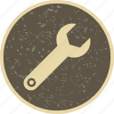 configure, options, wrench icon