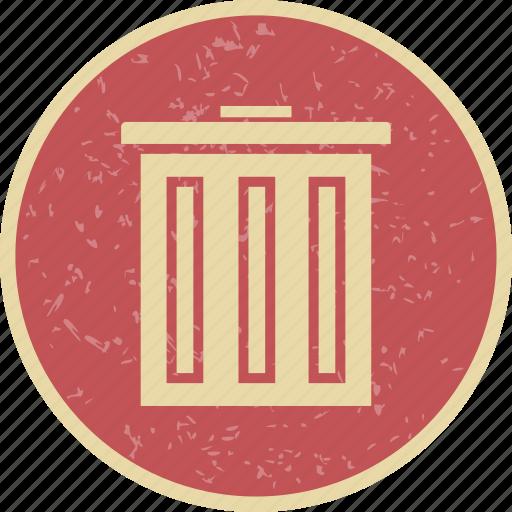 delete, dust bin, recyle bin icon