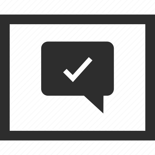 check, mark, web, wireframes icon
