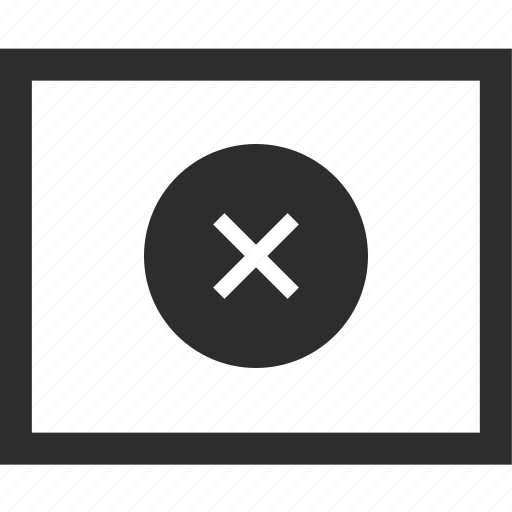 close, denied, stop, web, wireframes icon