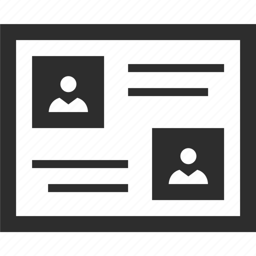 contacts, convesation, web, wireframes icon