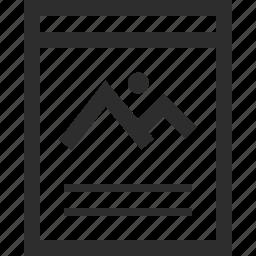 description, picture, web, wireframes icon