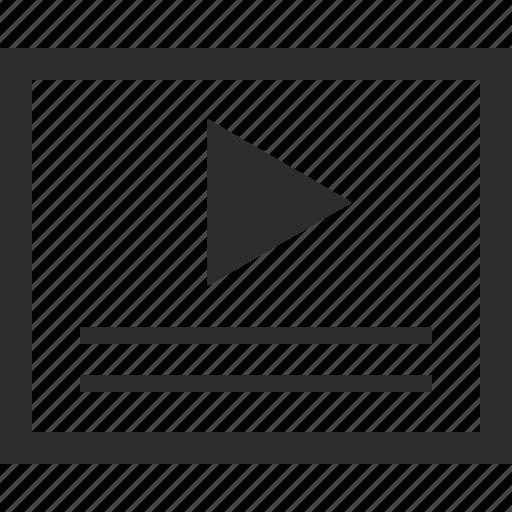 description, online, video, web, wireframes icon
