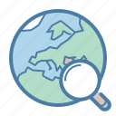 world, globe, search