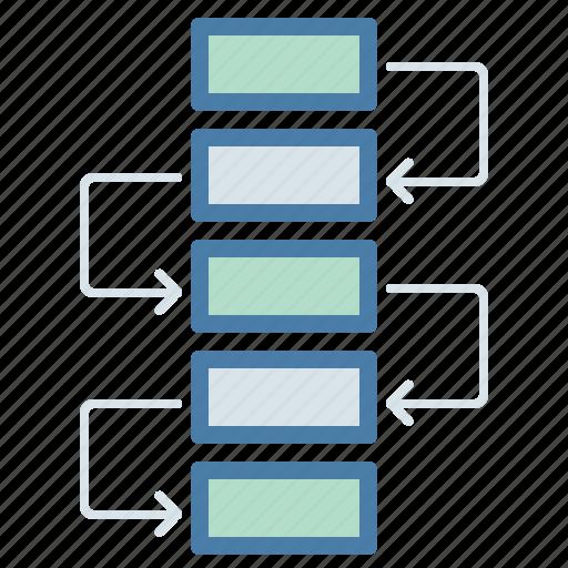 chart, flow, flowchart, management, project, scheme, workflow icon