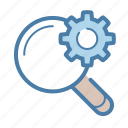 gear, optimization, options, search, search engine, seo, settings icon