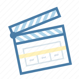 action, cinema, clapper, film, filming, media, movie icon