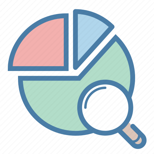 analytics, competetive, diagram, pie chart, report, search, statistics icon