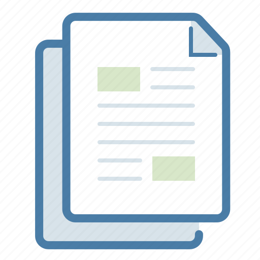 content, copy, creation, documents, duplicate, files, manuals icon