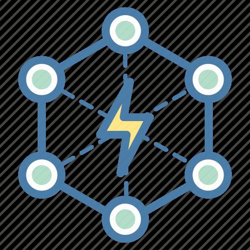break, conflict, disruption, energy icon