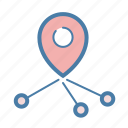 direction, location, navigation, pin icon