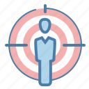 aim, audience targeting, focus, market target icon